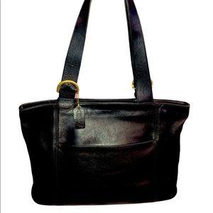 Coach vintage black leather #4155 large Soho tote